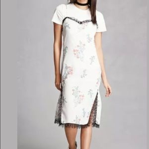 English factory 2 piece dress set floral L 8 10